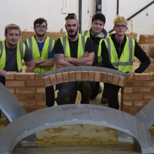 Newcastle College Students with Birtley Bespoke Lintels